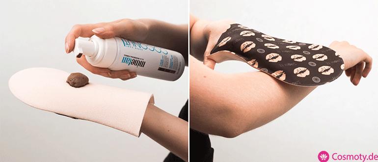 selbstbraeuner-handschuh-anwendung-vergleich test