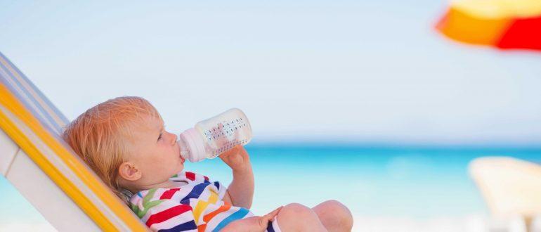 strandurlaub baby-sonnencreme