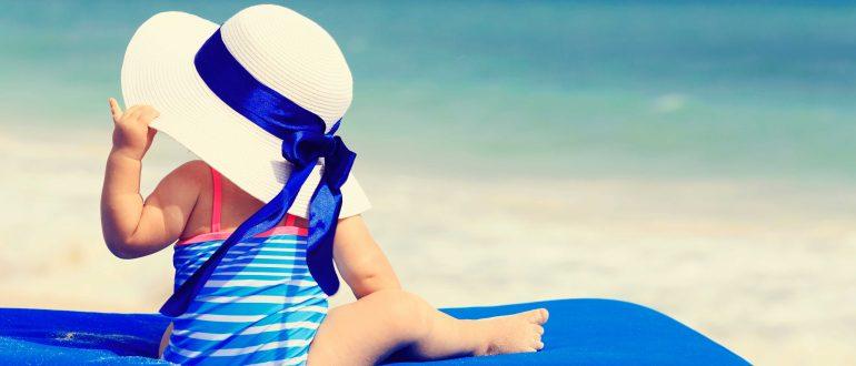 baby sonnenhut strand sonne badeanzug