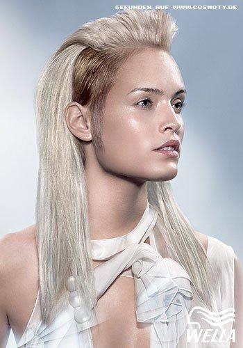 2-farbig in Blond mit Tolle
