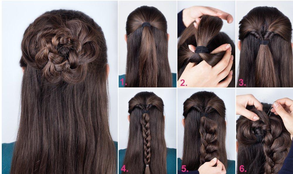 Anleitung: Schritt für Schritt zur Haar-Rosette