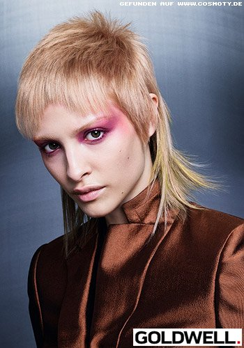 Ausgefranster VoKuHiLa in rosé schimmerndem Blond