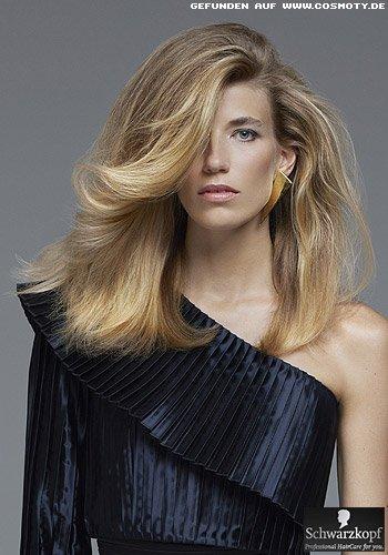 Blow-Up Frisuren-Look zum Ausgehen mit viel Volumen