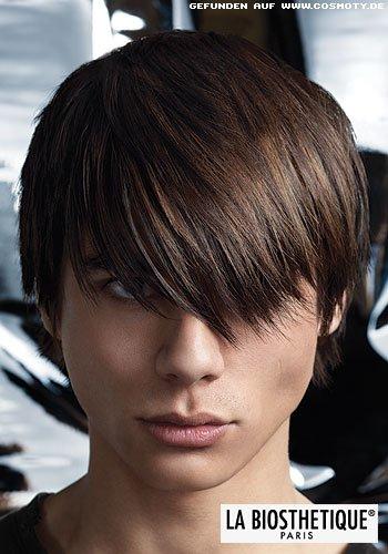 Frisuren Bilder Dezente Stufen Zum überlangen Pony Frisuren Haare