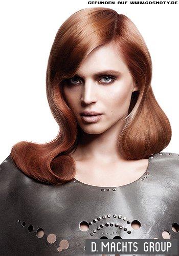 Elegante Glamourwelle mit viel Glanz im Haar