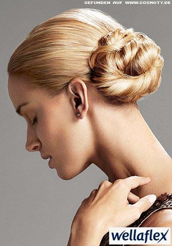 Frisuren Bilder Eleganter Knoten Seitlich Gesteckt Frisuren Haare