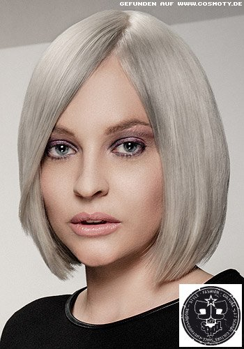Eleganter Sleek-Bob in silbergrau