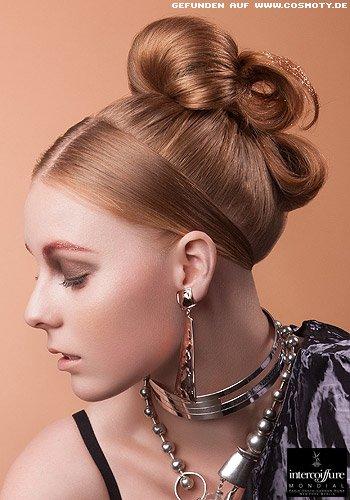 Elegant gesteckter Haarknoten