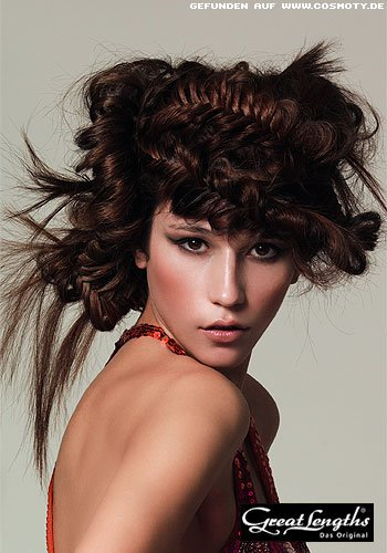Frisuren Bilder Extravagante Hochsteckfrisur Mit Flecht Elementen