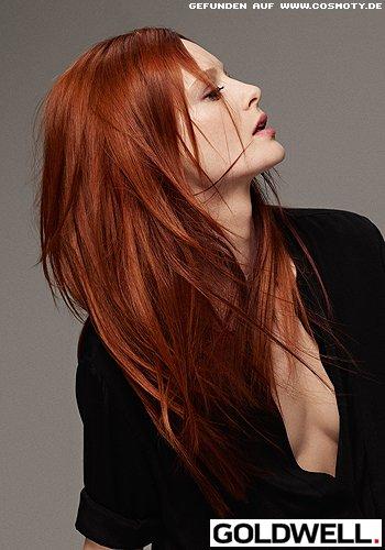 Fein abgestuftes Haar mit definierten Spitzen