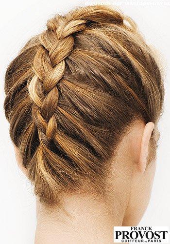 Frisuren Bilder Französischer Zopf Vom Nacken Zum Kopf Frisuren