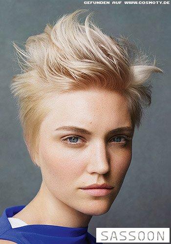 Frisuren Bilder Frecher Look Fur Den Blonden Pilzkopf Frisuren Haare