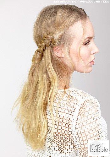 Geflochtene Zöpfe als Haarband