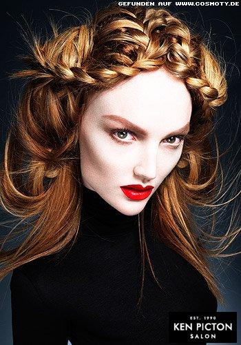 Frisuren Bilder Geflochtene Zöpfe Teilen Das Lange Haar Frisuren