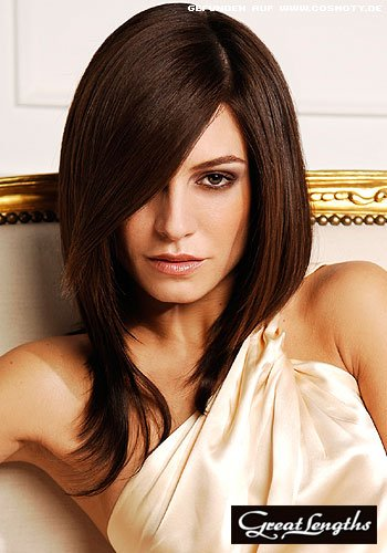 Frisuren Bilder Sleek Bob Mit Roten Hairextension Strahnen