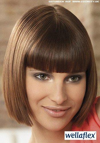 Glänzender Sleek-Look für kurzes Haar