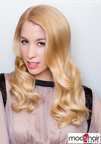 Glamourwellen in leuchtendem Blond