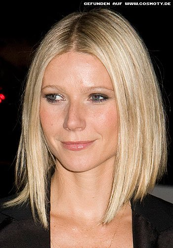 Gwyneth Paltrow mit schulterlangem Sleek-Bob