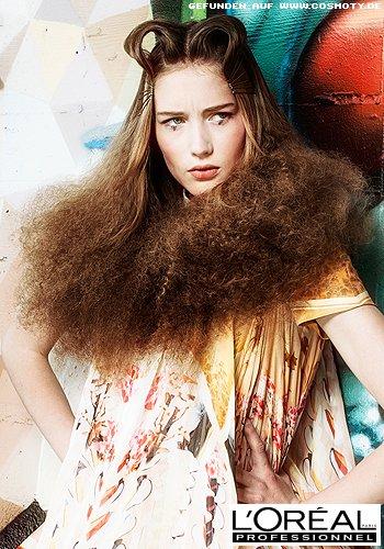 Haarschlaufen zu stark toupierten Längen