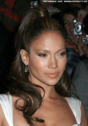 Frisuren Bilder Jennifer Lopez Mit Sehr Hoch Gebundenem Zopf