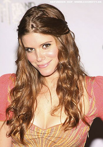 frisuren bilder kate mara mit gesteckten partien im. Black Bedroom Furniture Sets. Home Design Ideas