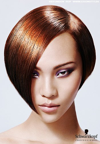 Kinnlanger Bob im superglatten Sleek-Look