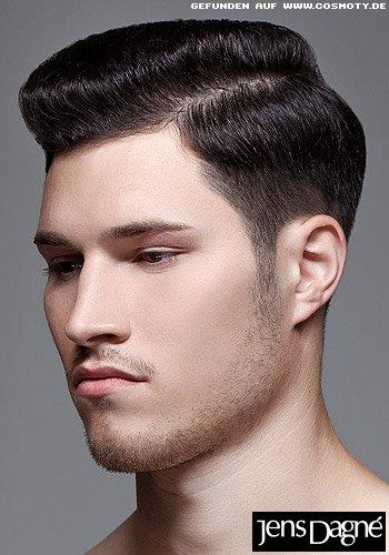 Frisuren Bilder Klassischer Bombage Haarschnitt Mit Seitenscheitel