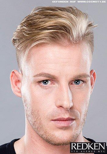 Lässig langes Haar zum seitlich kurz rasierten Undercut