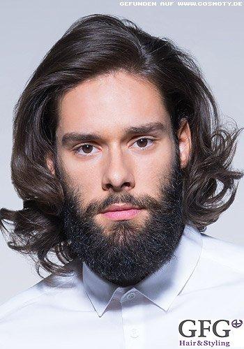 Langes Haar mit gelockten Haarspitzen für Männer