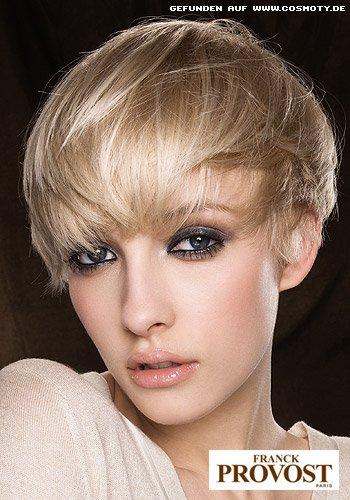 Frisuren Bilder Leicht Gestufter Kurzhaarschnitt Für Feines Haar