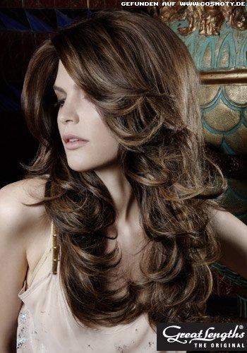 Frisuren Bilder Leicht Gewellte Stufen In Langem Haar Frisuren Haare