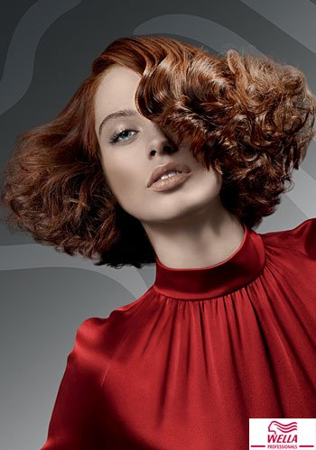 Locken-Bob im Retro-Stil