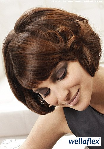 Lockenhighlights für kurzes Haar