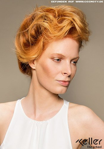 Frisuren Bilder Locker Hochgesteckte Langen In Rot Blond Frisuren