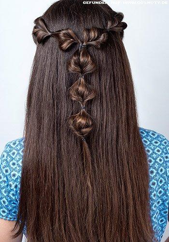 Mädchenhafter Haarkranz aus Bubbles