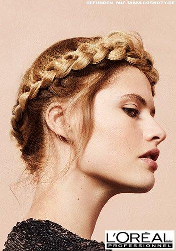 Mädchenhafter Haarkranz für mittellanges Haar