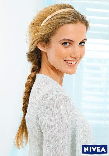 frisuren bilder: modern antoupierter zopf - frisuren, haare