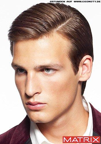 Frisuren Bilder Mondanes Gel Styling Mit Seitenscheitel Frisuren