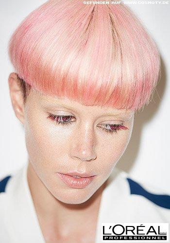 Pilzkopf in Rosa mit glattem Look und runder Kontur