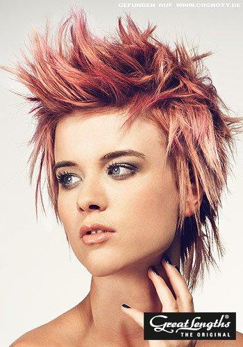 Frisuren Bilder Punkiger Short Cut In Pink Und Rosa Frisuren Haare