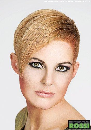 Frisuren Bilder Rasierte Seiten Zu Langem Deckhaar In Blond