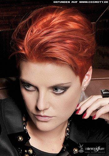 Frisuren Bilder Roter Kurzhaarschnitt Mit Langem Deckhaar
