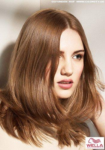 Frisuren Bilder Schulterlange Haare Mit Dezenten Stufen Frisuren