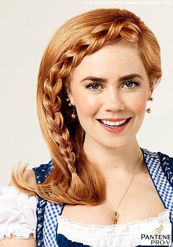 Seitlicher French-Braid zum offenen Haar