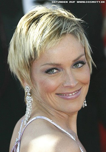 frisuren bilder sharon stone mit klassischen stufen kurzhaarschnitt frisuren haare. Black Bedroom Furniture Sets. Home Design Ideas
