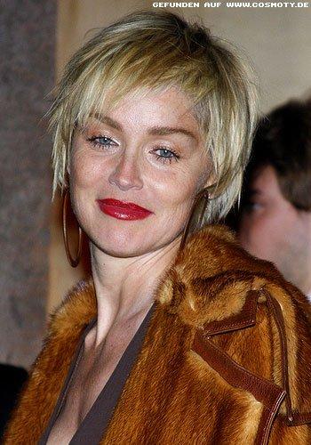 Frisuren Bilder Sharon Stone Mit Kurzem Stufenschnitt