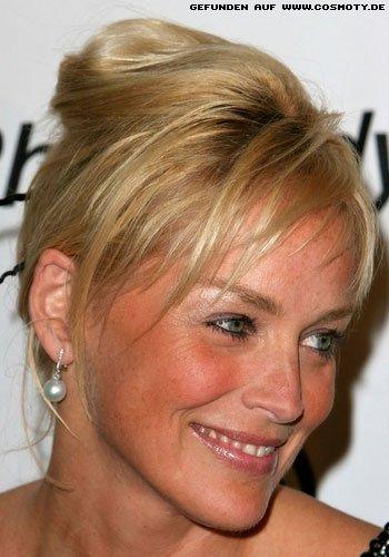 Frisuren Bilder Sharon Stone Mit Locker Gesteckter Banane