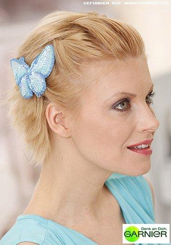 Steckfrisur für kurzes Haar