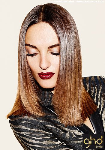 Supereleganter Sleek-Look-Bob mit Mittelscheitel