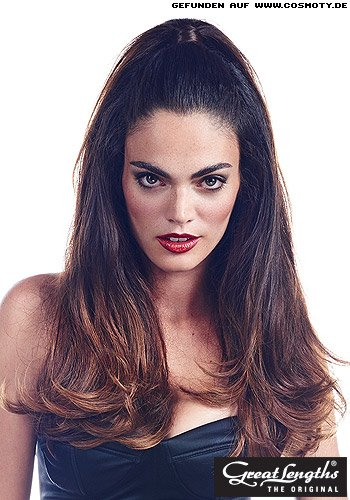 Super-Woman-Zopf: Halb zum hohen Zopf gebundes Haar